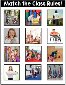 Classroom Rules File Folders with Real Photos