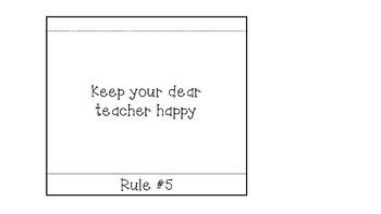 Classroom Rules Flip Book