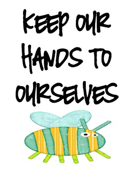 Classroom Rules - Flower and Bug Theme Posters