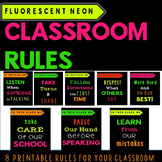 Classroom Rules -Fluorescent Neon Posters