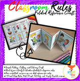 Back to School Classroom Rules Folded Reference Craft