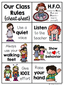 Classroom Rules {For Your Littlest Learners}