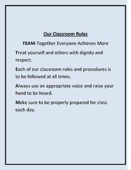 Classroom Rules Free Download