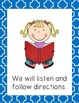 Classroom Rules Freebie {With Colored Borders}