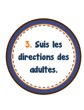 Classroom Rules (French)