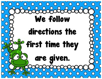 Classroom Rules {Frog}