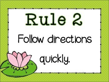 Classroom Rules {Froggie Theme} Positive Behavior - Frog