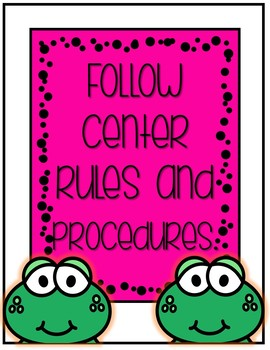 Classroom Rules Frogs Theme