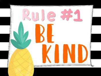 Classroom Rules Fruit Set