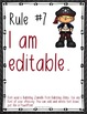 Classroom Rules EDITABLE Text - Pirates