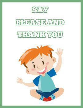 Classroom Rules (Green Edition) Instant Download PDF; Preschool, Kindergarten