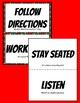 Classroom Rules Hashtag Posters