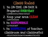Classroom Rules Hashtags