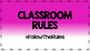 Classroom Rules #Hastag Poster Set