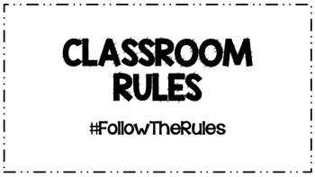 Classroom Rules #Hastag Poster Set {Black/White Option}