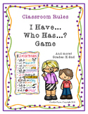 "Classroom Rules:  ""I Have, Who Has?"" Game"