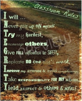 Classroom Rules (INTEGRITY)