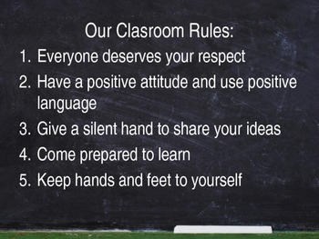Classroom Rules Introductory Presentation