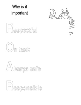 Classroom Rules (Jefferson Dragon's ROAR)