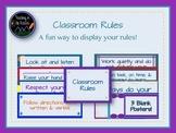 Classroom Rules - Jewel Tones