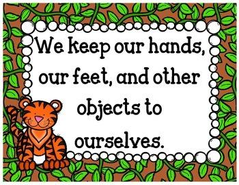 Classroom Rules {Jungle Animals}