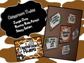 Classroom Decor {Jungle Jivin, Sassy Safari, Rockin' Rainforest RULES}