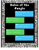Classroom Rules Jungle Themed