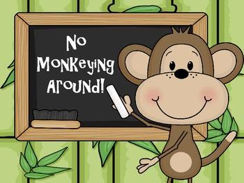 Classroom Rules Jungle and Monkey Theme