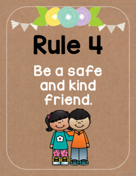 Classroom Rules (Kraft Paper and Floral)