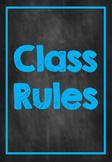 Classroom Rules- L.E.A.R.N. Chalkboard Neon Design