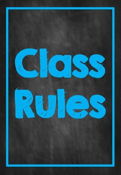 Classroom Rules- L.E.A.R.N. Chalkboard Neon Design with Purple