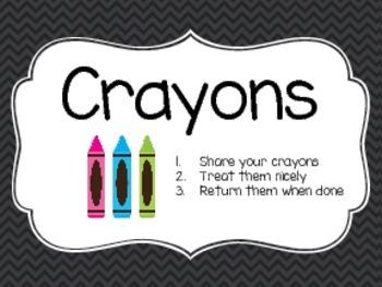 Classroom Art - Labels