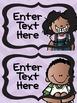 Classroom Rules / Labels Editable Chevron Melonheadz themed