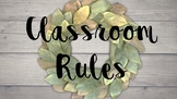 Classroom Rules/Labels/Table Numbers