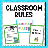 Classroom Rules- Choice of graphics and colors!