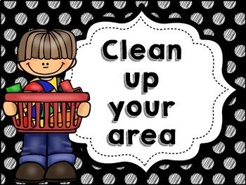 Classroom Rules MIX AND MATCH (Black Polka Dot Scribble)