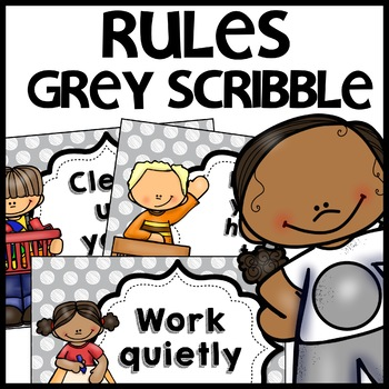 Classroom Rules MIX AND MATCH (GRAY Polka Dot Scribble)