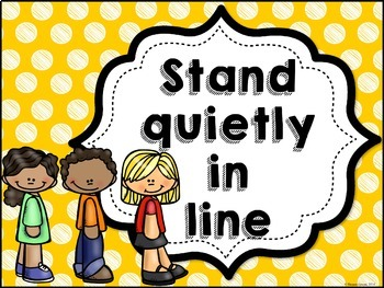 Classroom Rules MIX AND MATCH (MUSTARD Polka Dot Scribble)