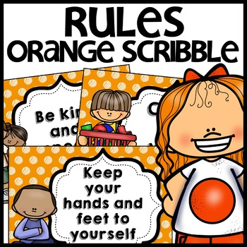 Classroom Rules MIX AND MATCH (ORANGE Polka Dot Scribble)