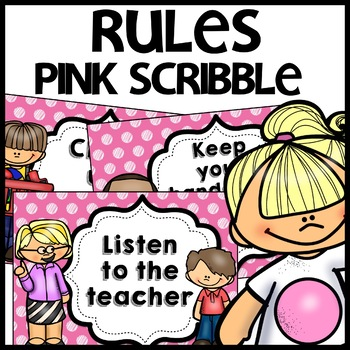 Classroom Rules MIX AND MATCH (PINK Polka Dot Scribble)