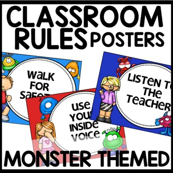 Classroom Rules | MONSTER THEMED