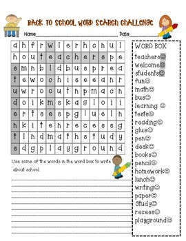 Find Someone Who...Back to School & Wordsearch