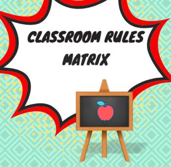Classroom Rules Matrix