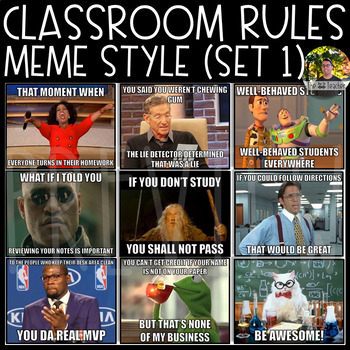 Classroom Rules Meme Style