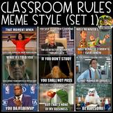 Classroom Rules Meme Style (Set 1)