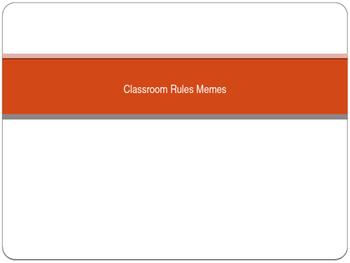 Classroom Rules Memes