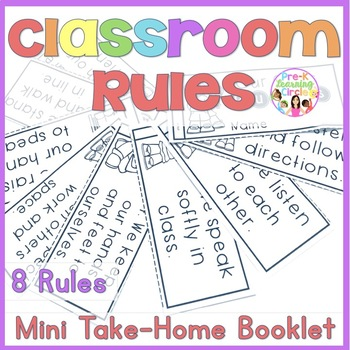 (FREE) Classroom Rules Mini-Books