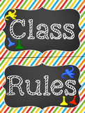 Classroom Rules Mini Bulletin Board Set
