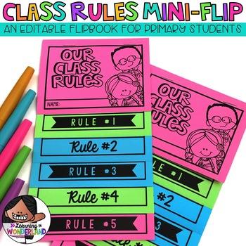Classroom Rules Mini-Flip