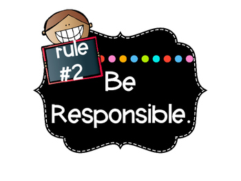 Classroom Rules Mini Posters - Bright Chalkboard